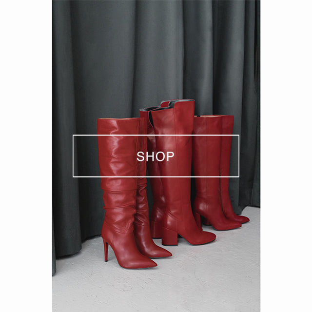 poilei rote schuhe rotcollection rote stiefel rote high heels damenstiefel