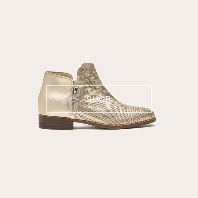 poilei ss18 sommer stiefeletten boots malou gold