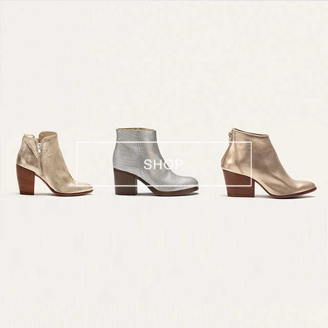 poilei  oster special ankle boot lilly gold tonia silber stella