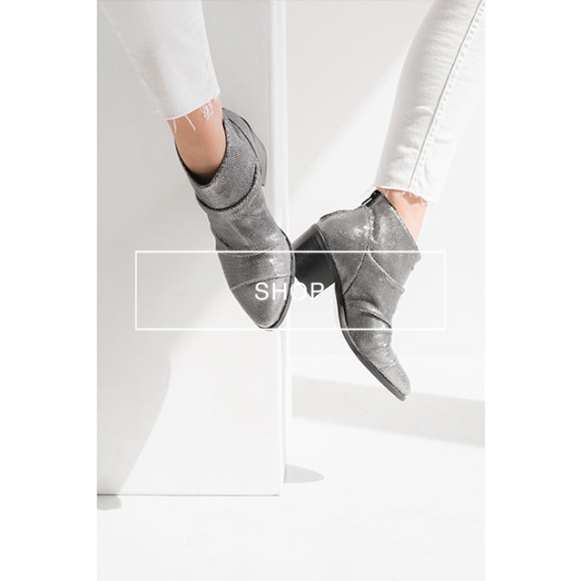 poilei hw18 ankle boot paulina silber
