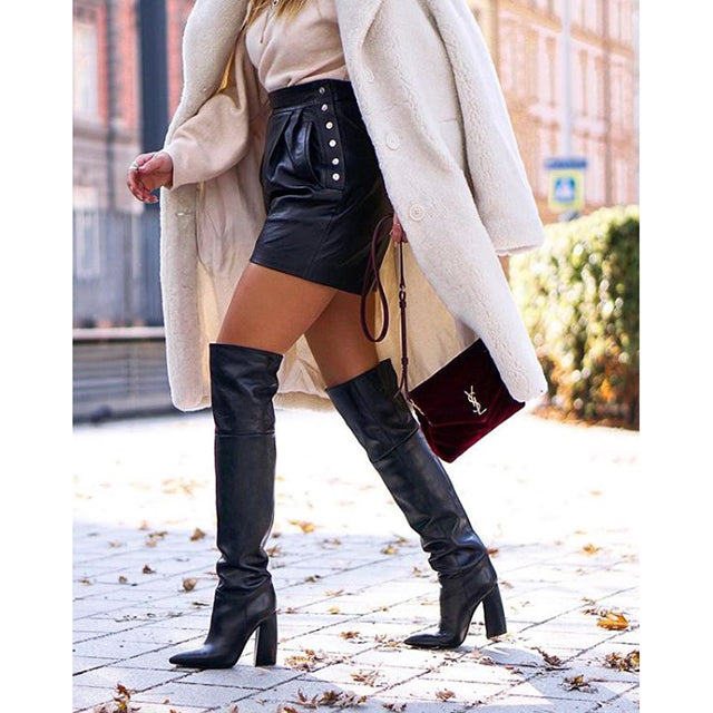poilei  hw18 overkneestiefel francesca schwarz the fashion pheromone blogger look