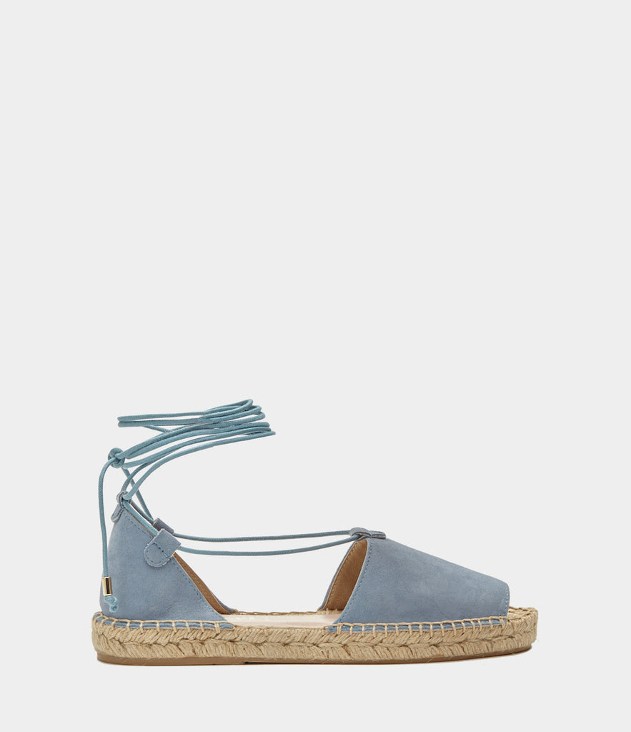 Lace Up Espadrilles Alma Blau
