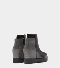 PoiLei Leder Wedges Boots Grace Silber Back