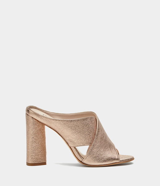 High Heel Pantoletten Verona Gold