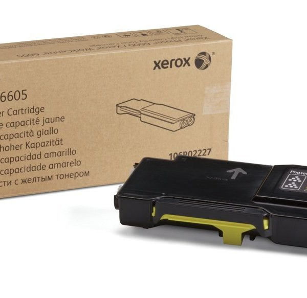 Xerox® Phaser 6600/WorkCentre 6605 Yellow Toner Cartridge, High Yield (106R02227)