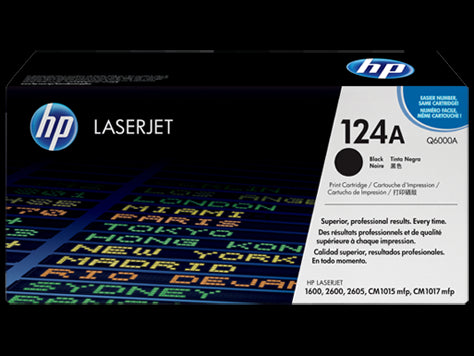 Original HP Q6000A Black Toner Cartridge (124A)