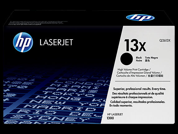 Original HP Q2613X New Black Toner Cartridge - High Capacity (13X)