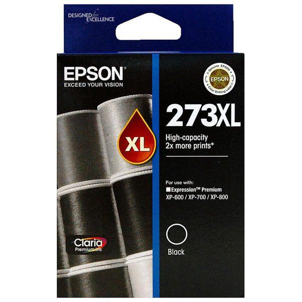 Original Epson 273XL, Black Ink Cartridge, High Capacity (T273XL020)