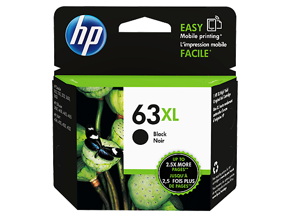 Original HP 63XL Black High Yield Ink Cartridge (F6U64AN)