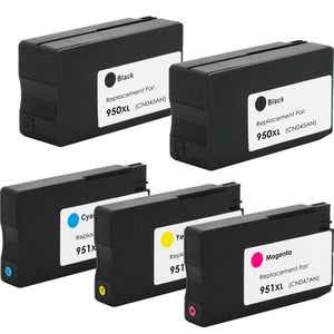 HP  2x 950XL / 1 x 951XL Black & Color New Compatible Combo Pack- High Capacity 2 Black & 1 of each color