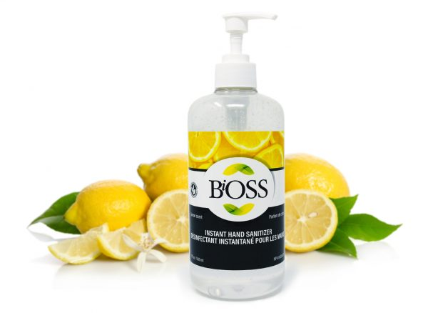 HAND SANITIZER - Bioss 500Ml Lemon Flavoured Pump Bottle