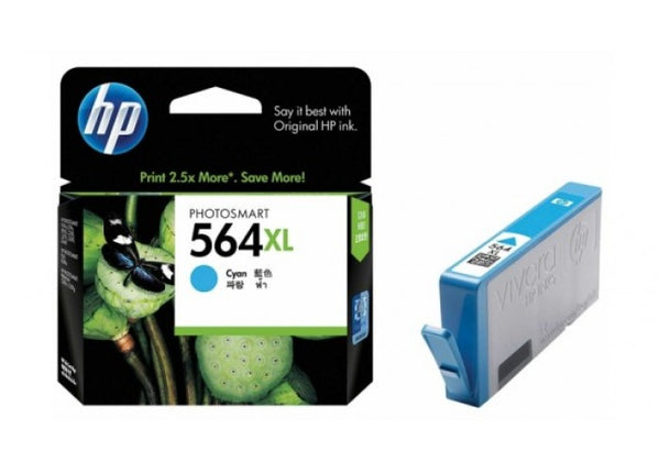 Original HP 564XL Cyan High Yield Original Ink Cartridge (CB323WN)