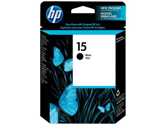 Original HP 15 Black Ink Cartridge (C6615DN)