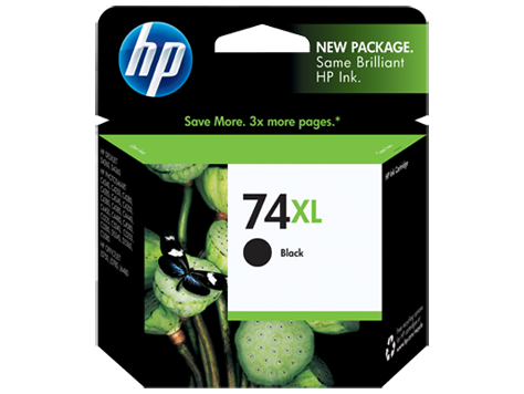 Original HP 74XL Black High Yield Ink Cartridge (CB336WN)