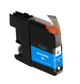 Brother LC 103XL New Cyan Compatible Inkjet Cartridge (LC103C)