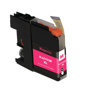 Brother LC 103XL New Magenta Compatible Inkjet Cartridge (LC103M)