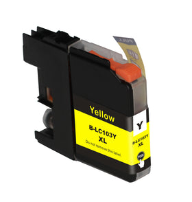 Brother LC 103XL New Yellow Compatible Inkjet Cartridge (LC103Y)