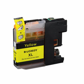 Brother LC-203XL Y New Yellow Compatible Inkjet Cartridge (LC-203Y)