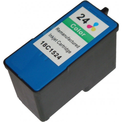 Lexmark 24 Black Remanufactured Inkjet Cartridge (18C1524)