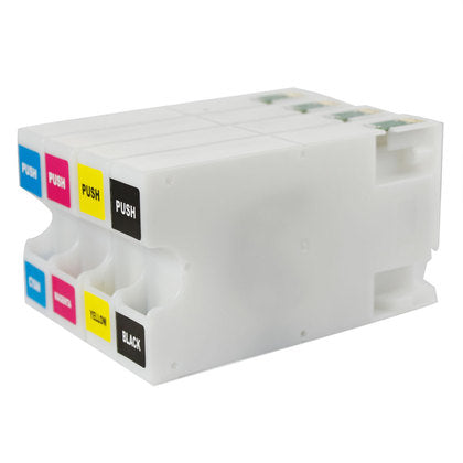 Epson 676XL New Compatible Inkjet Cartridges - Combo Pack of 4 (BK,C,M,Y)(High Capacity Version of Epson T676)