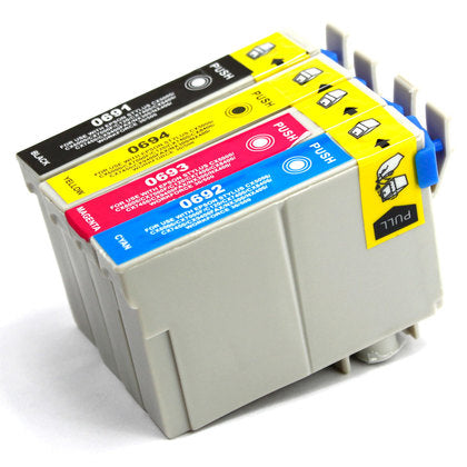 Epson T069 New Compatible Inkjet Cartridges - Combo Pack of 4 (BK,C,M,Y)