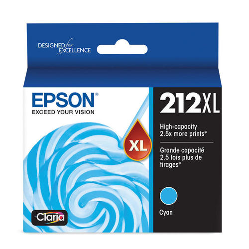 Epson 212XL T212XL Original Ink Cartridge Combo High Yield BK/C/M/Y for use in Expression Home XP-4100, Expression Home XP-4105, Workforce WF-2830, Workforce WF-2850