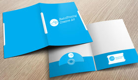 Single Color Presentation Folders with Foil Imprint