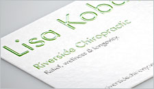 Raised print Business Cards - 16pt
