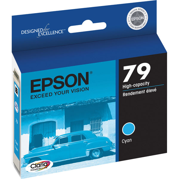 Original Epson® 79 (T079220) High-Capacity Ink Cartridge, Cyan
