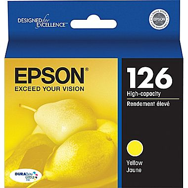 Original Epson® 126 Yellow Ink Cartridge, High-Yield (T126420)