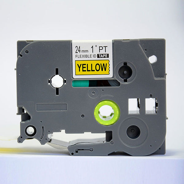 COMPATIBLE Brother Label Tape, 24mm Black on Yellow, TZE651