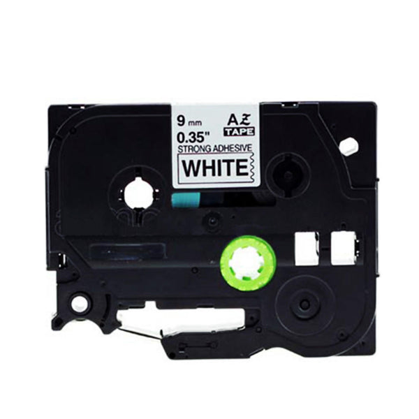 COMPATIBLE Brother Label Tape, 9mm Black on White, TZES221