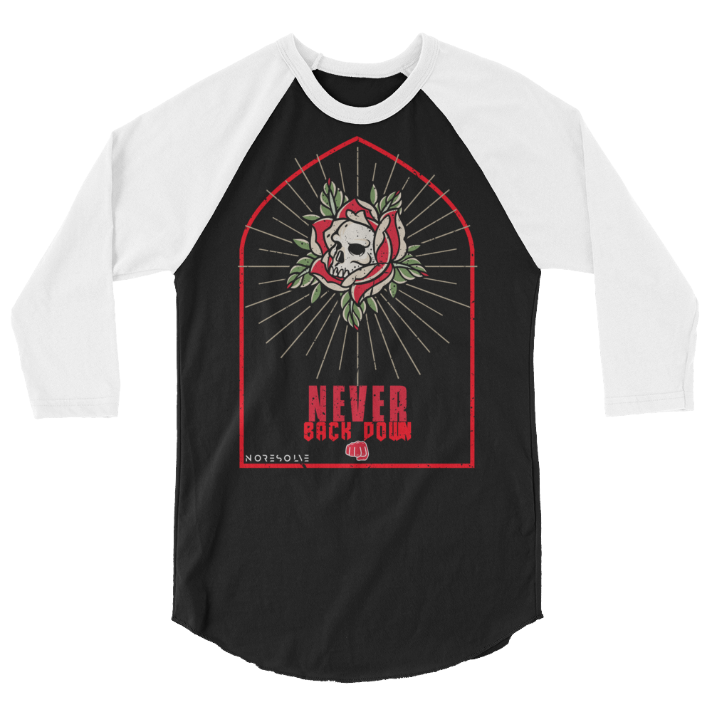 Official No Resolve 3/4 sleeve raglan shirt
