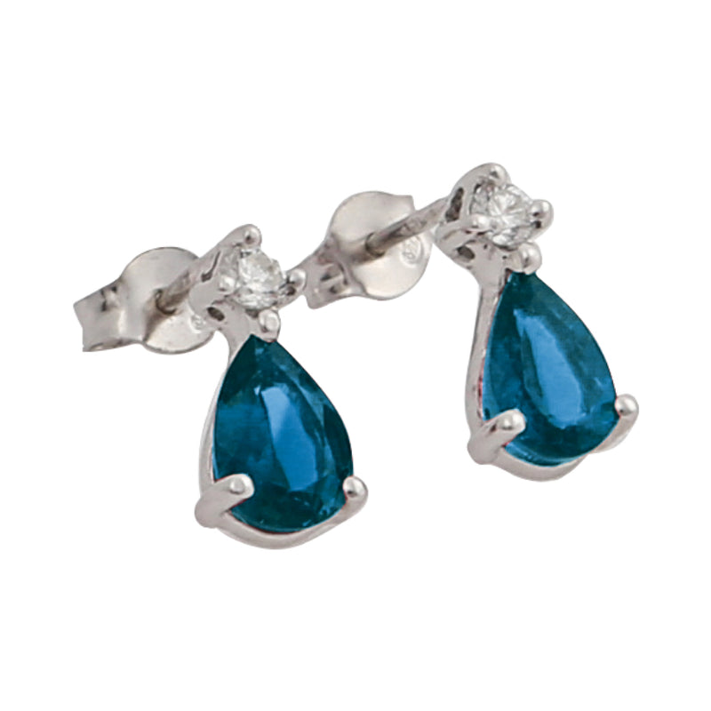 Boucles d'oreilles Ginger Topaze Blue London