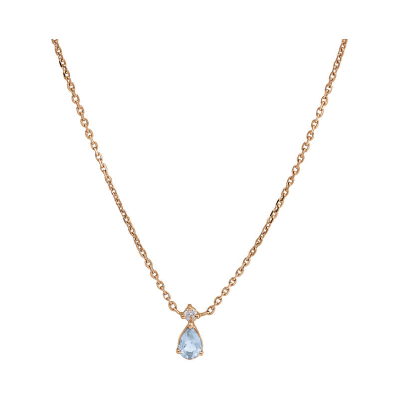 Collier Aigue-marine Ginger