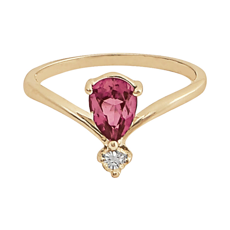 Bague Ginger Tourmaline Rose Cherry