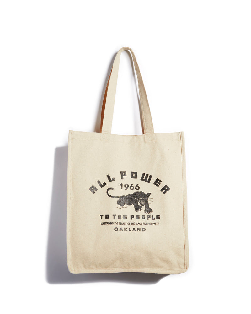ALL POWER 1966- XL Tote Bag APTTP19- Natural