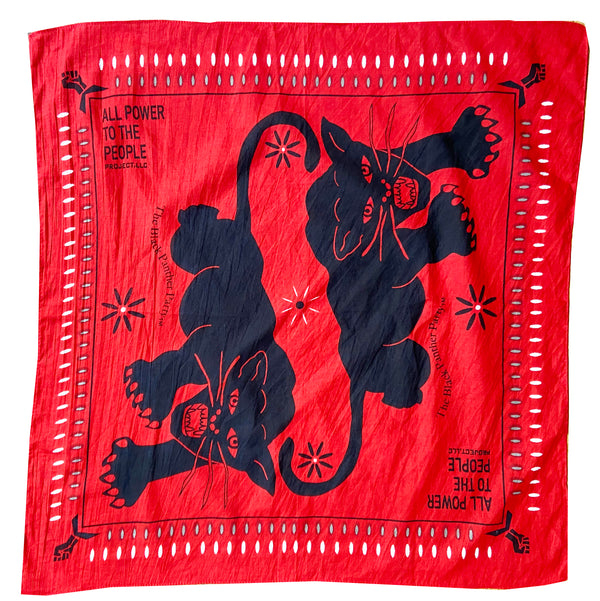 All Power Roaring Panther Bandana APTTPXX - RED
