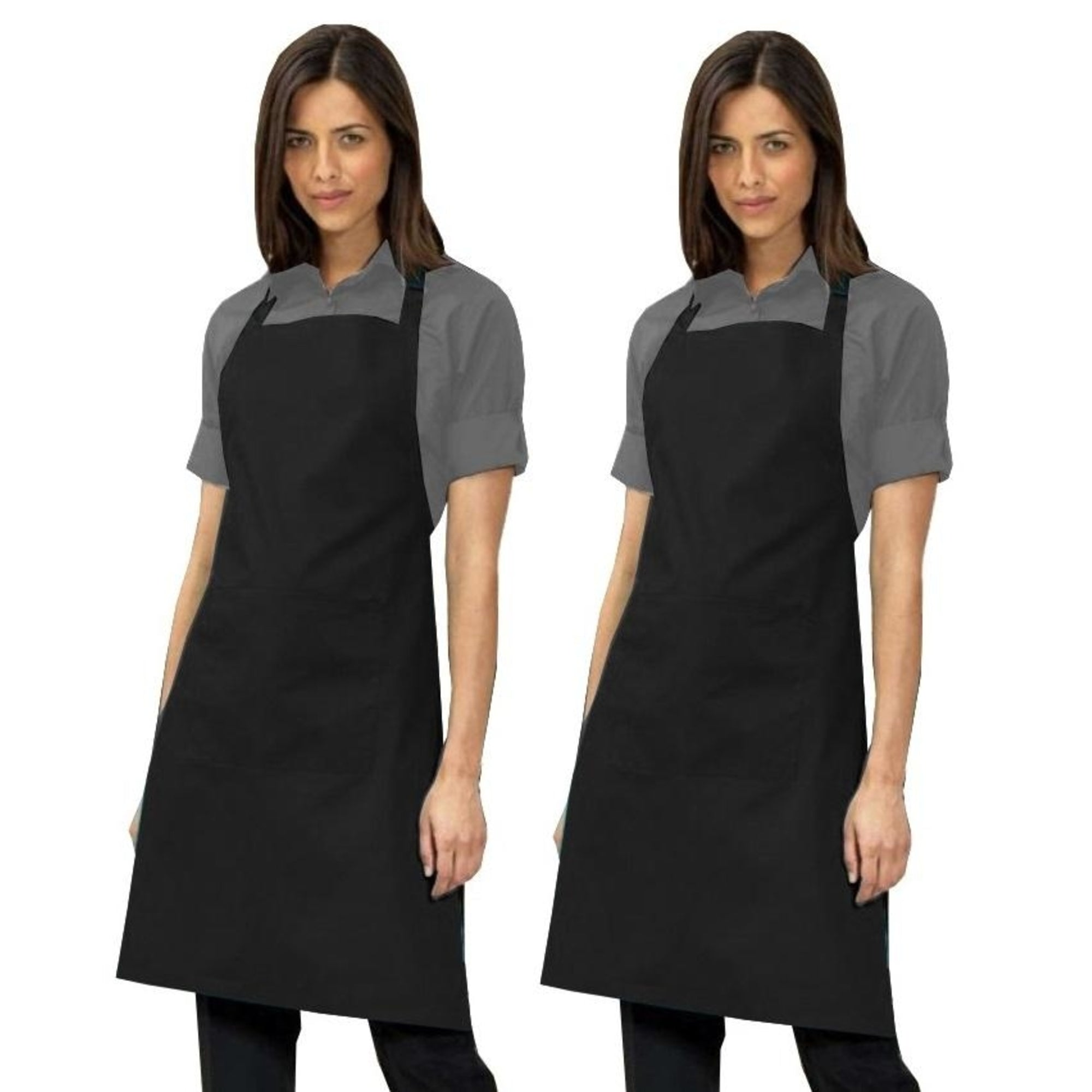 Twin Pack - Bib Apron with Pocket