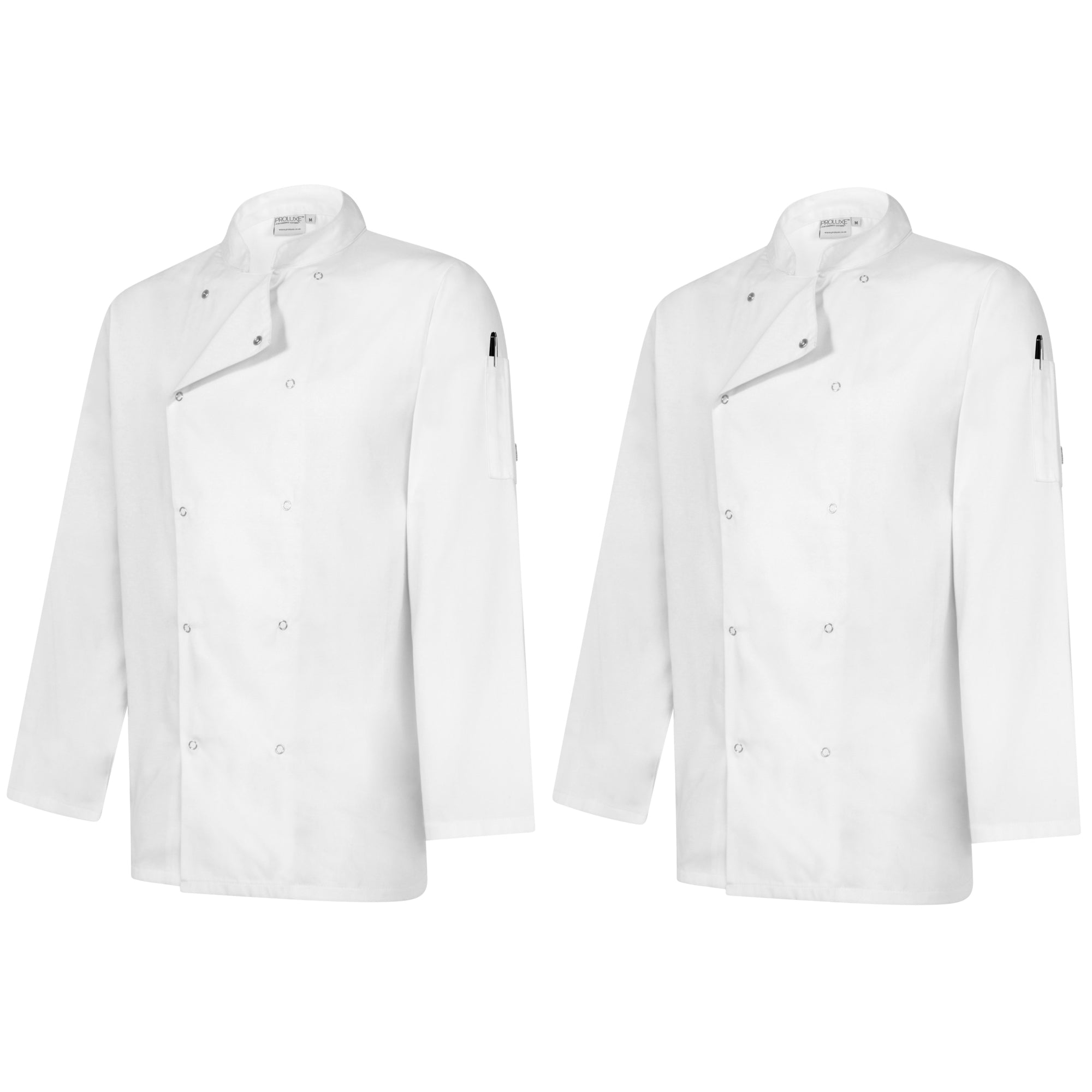 Twin Pack - Professional Chefs Jacket - Long Sleeve - White