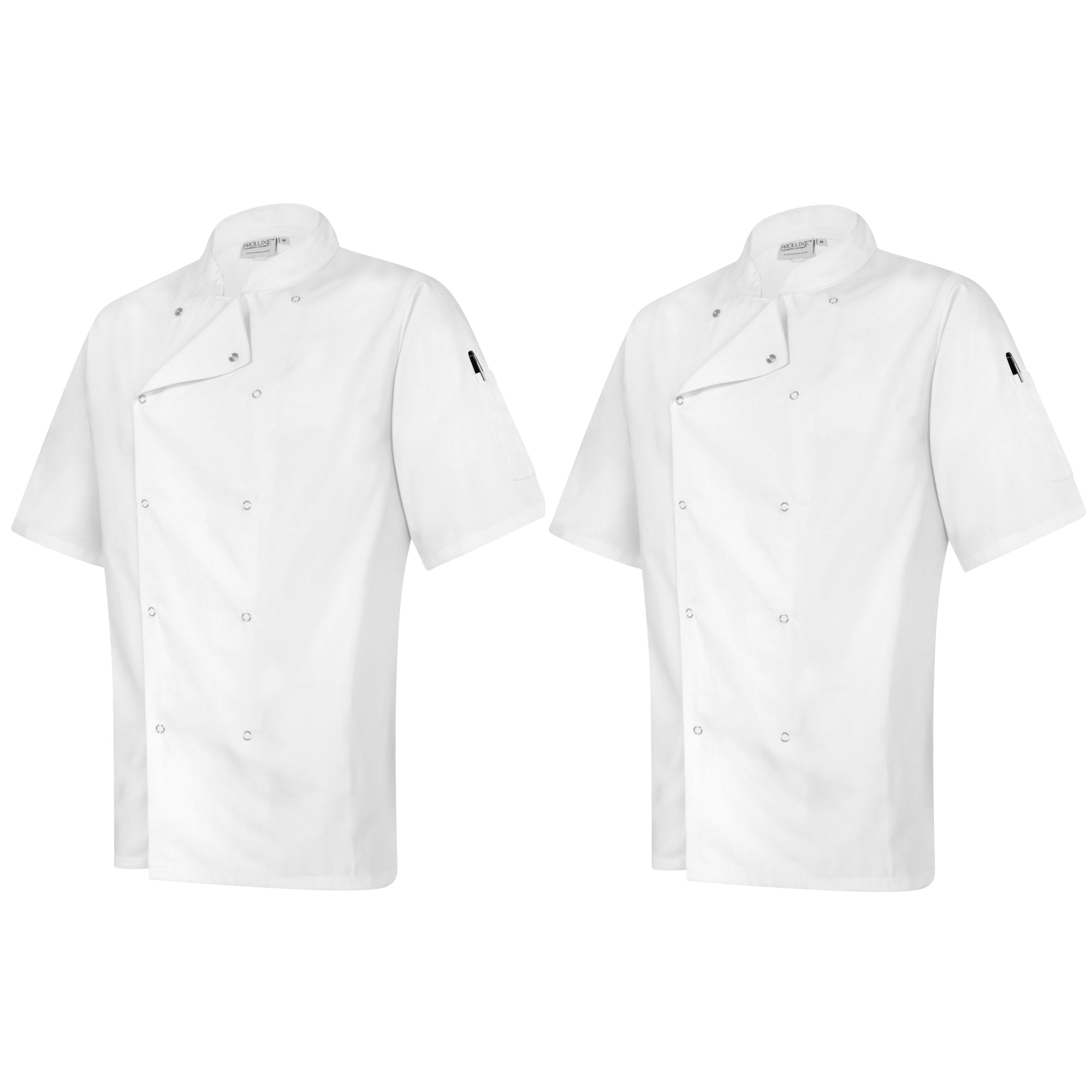 Twin Pack - Professional Chefs Jacket - Short Sleeve - White