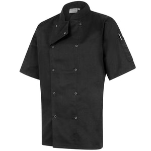 Twin Pack - Professional Chefs Jacket - Short Sleeve - Black