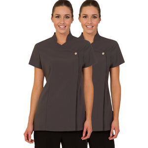 Twin Pack - Proluxe Press Stud Salon Tunic