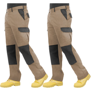 Proluxe Twin Pack - Endurance Two Tone Cargo Combat Work Trouser