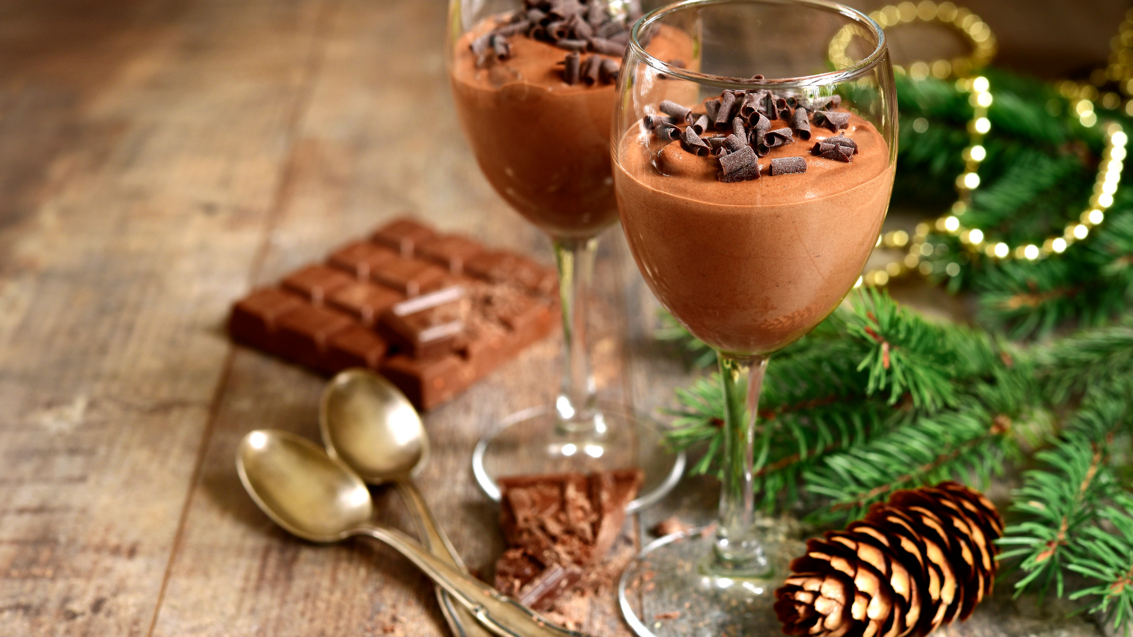 Swiss Chocolate Mousse with Peppermint and Orange