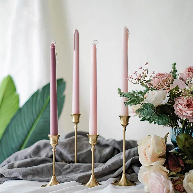 4PCS  multicolor soy wax candle Stick Wedding Birthday Festival table decor scented long candles Home decoration bougie