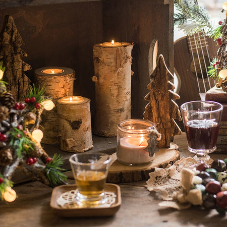 Wooden Festive Candles