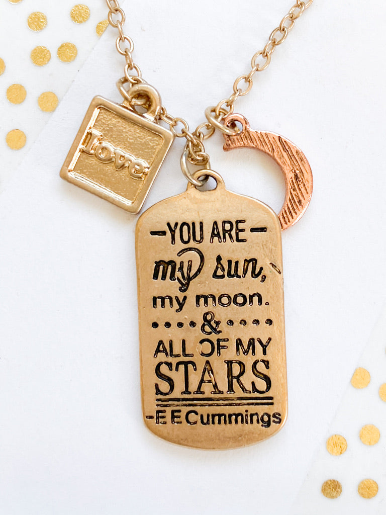 You are My Sun Necklace