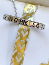 Load image into Gallery viewer, Faith Hope Love Hoop Necklace