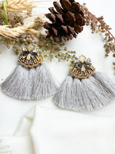 Load image into Gallery viewer, Make a Statement Earring Grey